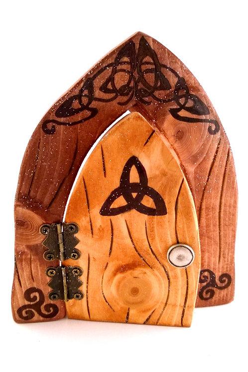 Celtic Knot Black Fairy Door