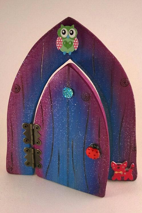 Purple and Blue Fairy Door