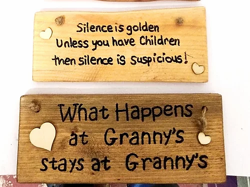 What Happens at Granny's : Rustic Wall Plaque