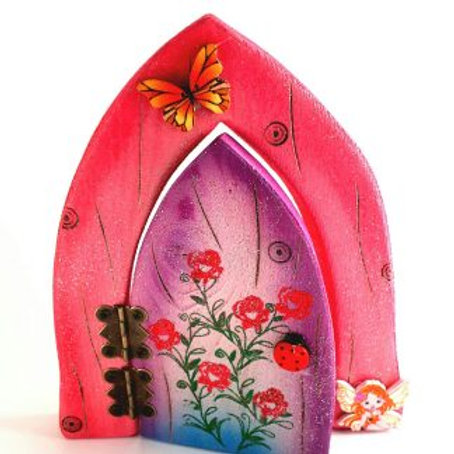 The Enchanted Collection: Roses Opening Fairy Door