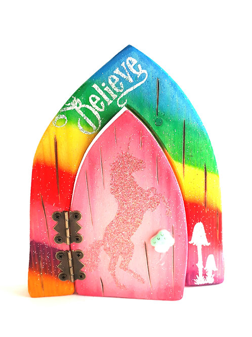 The Enchanted Collection: Unicorn  Opening Fairy Door