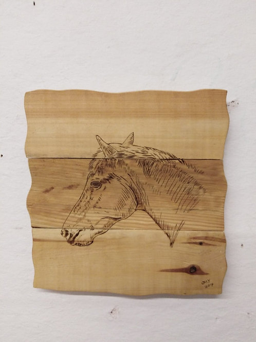 Rustic Wall Mounted Plaque:Horse