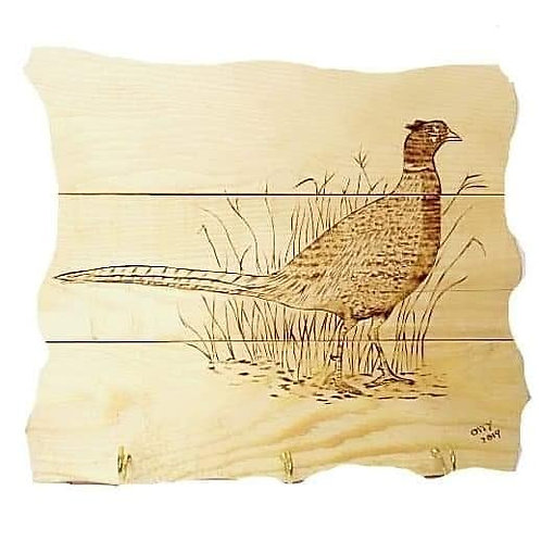 Rustic Wall Mounted Plaque:Pheasant