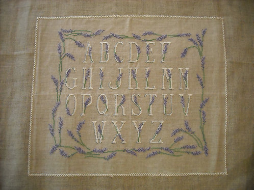 """lavender """"abecedaire"""""""