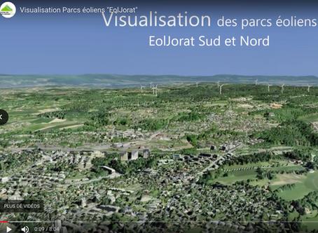 Flash info : enfin le film 3D de l'industrialisation scandaleuse du Jorat par les projets EolJorat