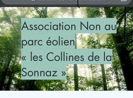 """Fribourg : l'association """"Non au parc éolien Les Collines de la Sonnaz"""" est née!"""