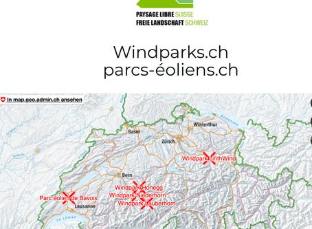 Enfin une image réaliste des parcs éoliens prévus en Suisse