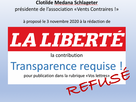 Transparence requise !