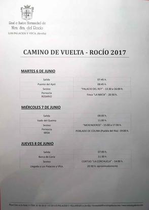 Horarios Rocío 2017
