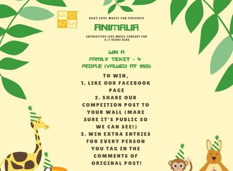 ANIMALIA Concert, Win a family Pass!