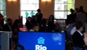 LU600 para a transmissão de posse do prefeito Eduardo Paes no Rio de Janeiro