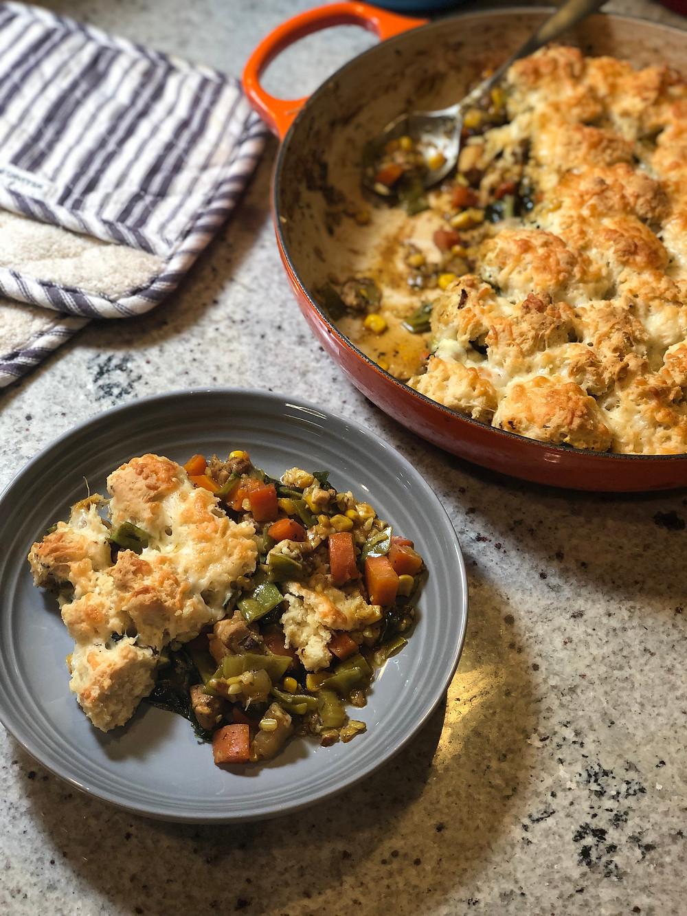 crustless chicken pot pie recipe