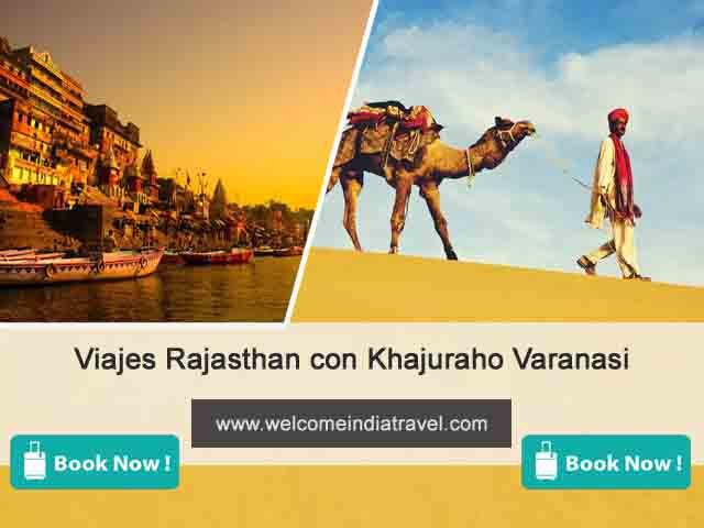 La gira de Rajasthán con Khajuraho y Varanasi