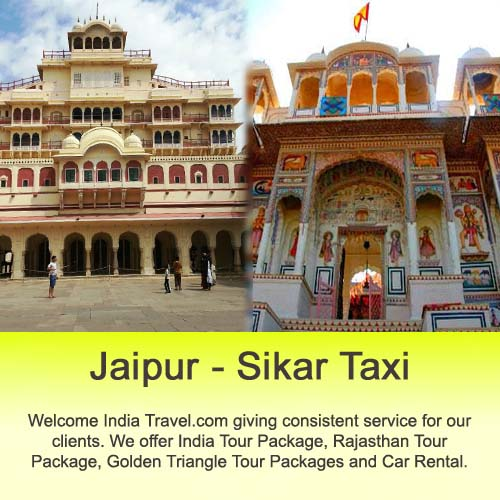 taxi from jaipur to sikar and back