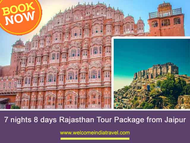 7 nights 8 days Rajasthan Tour Package from Jaipur