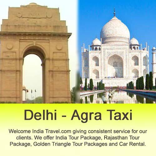 delhi to agra taxi rental