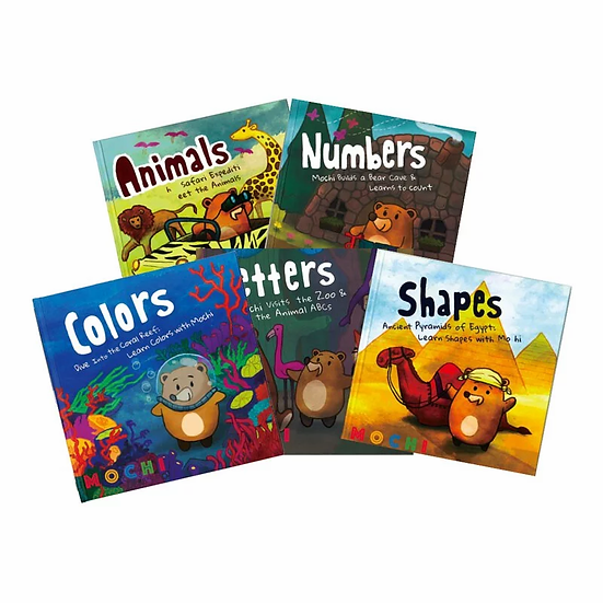 learn with mochi - 5 adventure books set