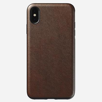 Nomad Rugged Horween Leather Case for iPhone XS Max (Brown)