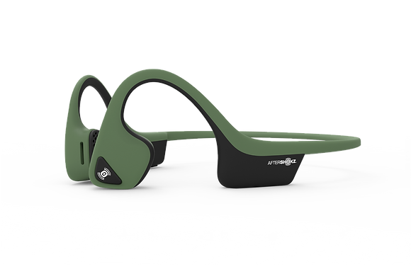 Aftershokz Trekz AIR Bone Conduction Headset with Microphone (Forest Green)