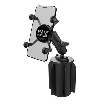 RAM X-Grip Phone Mount with RAM Stubby Cup Holder (Small Phone)