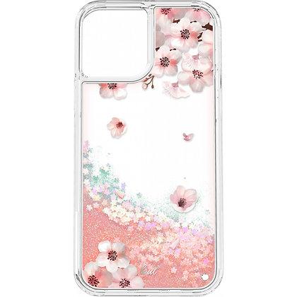 LAUT SAKURA Glitter Liquid Case for iPhone 12 Mini 5G (Pink/Clear)