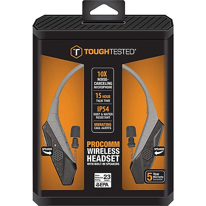 ToughTested Pro-Comm Bluetooth In Ear Neckband Headphones With Bulit-in Speaker