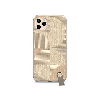 Moshi Altra Slim Hardshell Case With Hand Strap for iPhone 11 Pro Max (Beige)