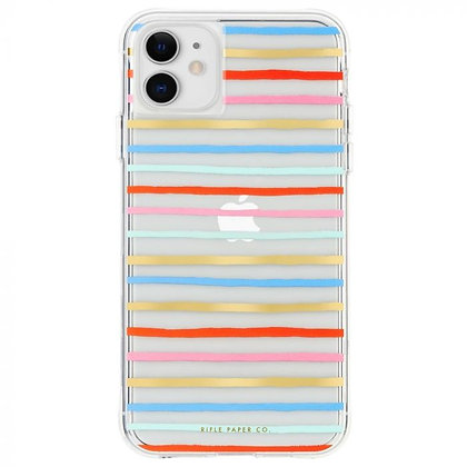 Casemate Rifle Paper Co Case for iPhone 11 (Happy Stripes)