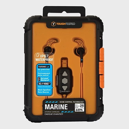 ToughTested Marine Waterproof Noise Control Headphones with Mic