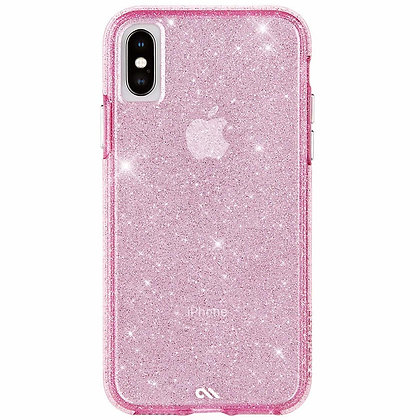 CaseMate SHEER CRYSTAL Case for iPhone XS Max (Pink)