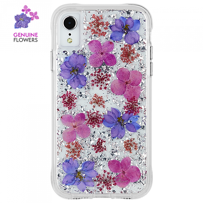 CaseMate KARAT PETALS Case for iPhone XR (Purple)
