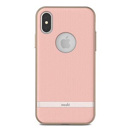 Moshi Protective Fabric Vesta Case for iPhone X/XS (Blossom Pink)