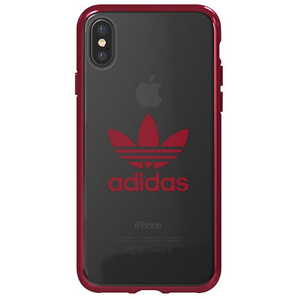 Original Adidas Slim Hardshell Logo Case for iPhone Xs/X (Clear)