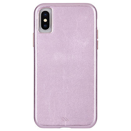 CaseMate BARELY THERE LEATHER Case for iPhone Xs/X (Metallic Blush)