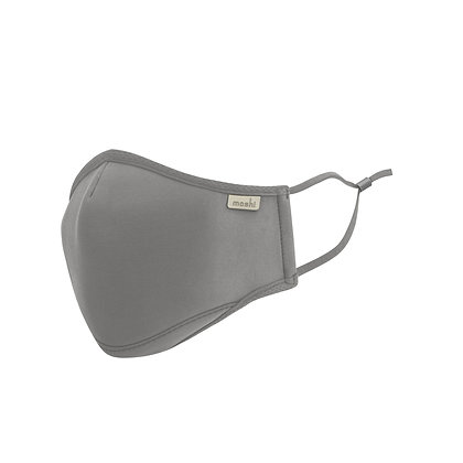 Moshi OmniGuard Mask with 3 Replaceable Nanohedron filters (Space Grey - Small)