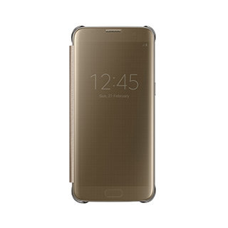 Samsung - OEM Clear View Cover (Gold)