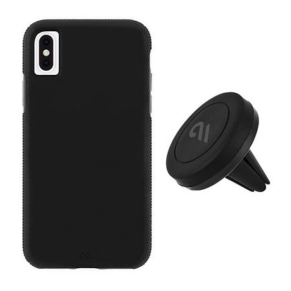 Casemate Tough Case + Car Holder Set for iPhone X/Xs (Black)