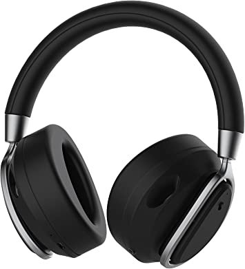 Defunc MUTE Wireless Over-Ear Headphones with Active Noise Cancellation (Black)