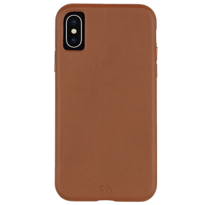 CaseMate BARELY THERE LEATHER Case for iPhone Xs/X (Butterscotch)