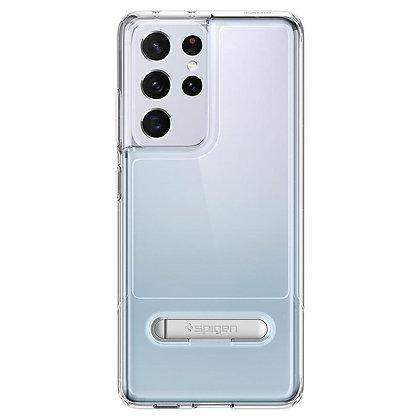 Spigen Slim Armor Essential S Kickstand Case for Samsung S21 Ultra 5G (Clear)