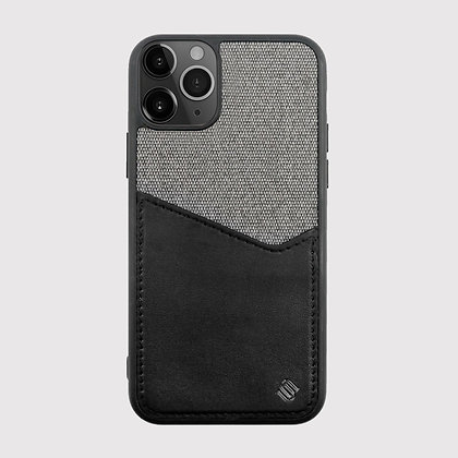 Uunique London Back Card Holder Case for iPhone 11 Pro Max (Black)