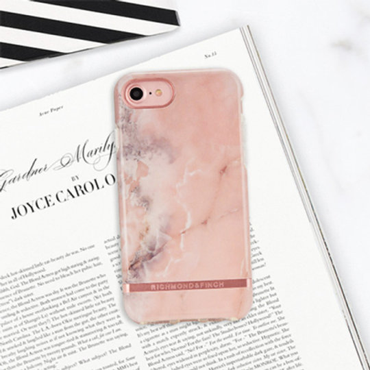 Tidssvarende Richmond and Finch Pink Marble Rose Gold Slim-Fit Case for iPhone RF-87