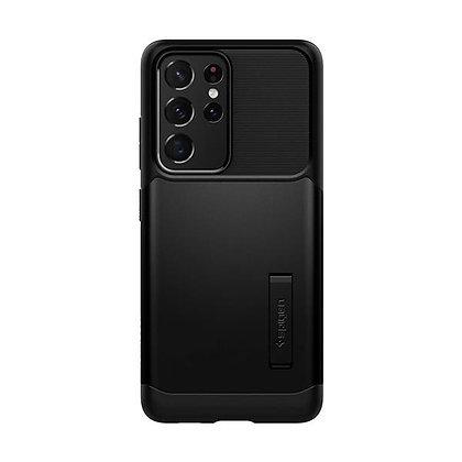 Spigen Slim Armor Case with Kickstand for Samsung S21 Ultra 5G (Black)