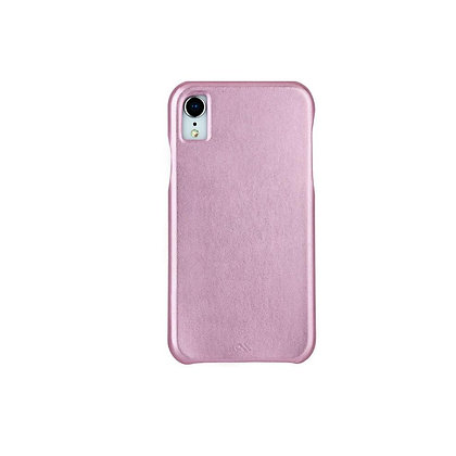 CaseMate BARELY THERE LEATHER Case for iPhone XR (Metallic Blush)
