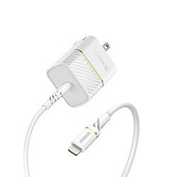 Otterbox 18W USB-C to Lightning Fast Charge Wall Charging Kit (White)