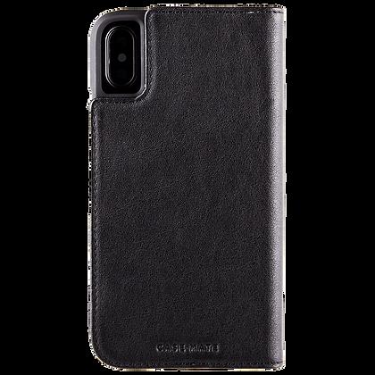 Casemate Genuine  Leather Folio Case for iPhone X/Xs (Black)