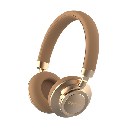 DeFunc Plus Over-Ear Bluetooth Headphones (Gold)