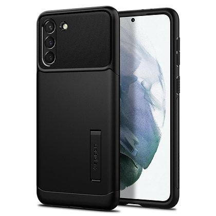 Spigen Slim Armor Case with Kickstand for Samsung S21 5G (Black)
