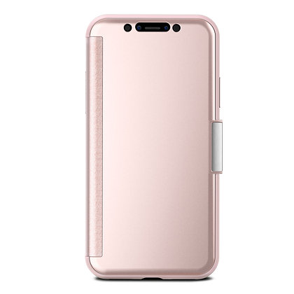 Moshi Stealthcover Clearview Case for iPhone X/XS (Pink)