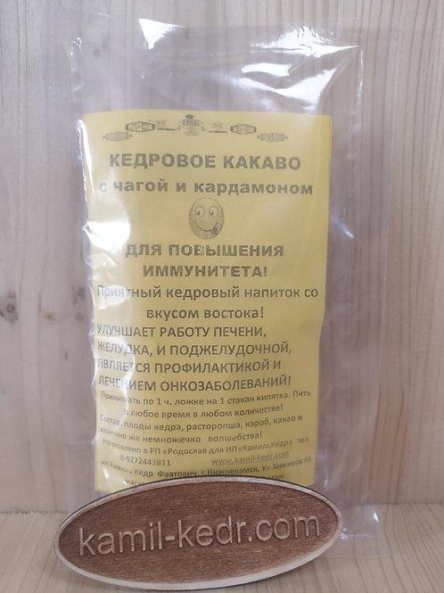 Кедровое какао с чагой и кардамоном